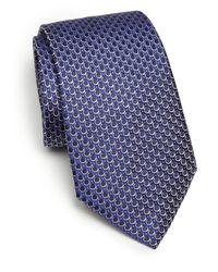 Armani - Blue Circle Print Silk Tie for Men - Lyst