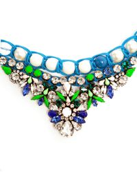 Shourouk - Multicolor Theresa Crystal, Pearl And Enamel Beaded Necklace - Lyst