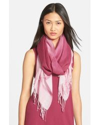 Eileen Fisher - Ombre Alpaca & Silk Scarf - Purple - Lyst