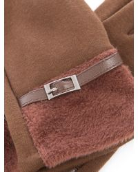 Lavand - Brown Warm Gloves - Lyst