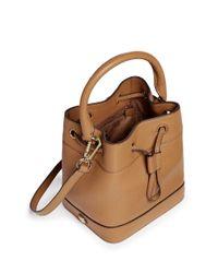Tory Burch - Brown 'robinson' Leather Bucket Bag - Lyst