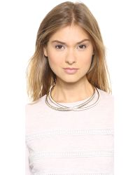Nina Ricci - Pink Crystal Necklace Rose - Lyst
