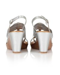 Lotus - Metallic Chilivani Wedge Sandals - Lyst