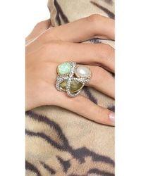 Alexis Bittar - Green Multi Stone Encrusted Vine Ring - Lyst