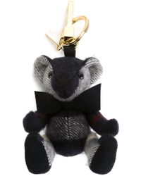 Burberry | Blue Teddy Bag Charm | Lyst