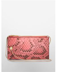 Calvin Klein - Red Collection Python Smartphone Holder With Snake Chain - Lyst