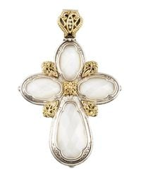 Konstantino | White Mother-Of-Pearl Cross Enhancer | Lyst