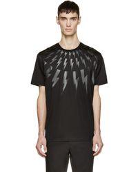 Neil Barrett - Black Thunderbolt T-shirt for Men - Lyst