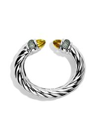 David Yurman - Metallic Waverly Bracelet 25mm - Lyst