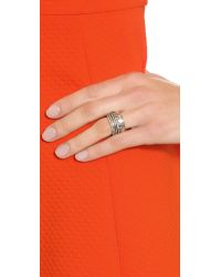 House of Harlow 1960 | Metallic Shakti Stack Ring Set - Silver Multi | Lyst