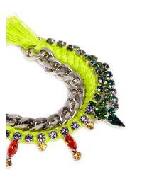 Joomi Lim | Yellow Cotton Braid Crystal Bracelet | Lyst