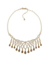 Carolee | Metallic Desert Oasis Goldtone Teardrop Stone Necklace | Lyst