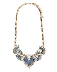 Forever 21 | Blue Rhinestone Petal Statement Necklace | Lyst