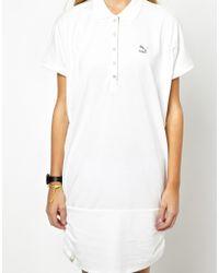 PUMA | White Polo Dress | Lyst