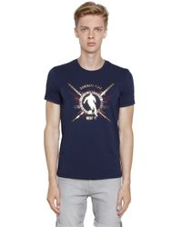 Bikkembergs | Blue Katana Printed Cotton Jersey T-shirt for Men | Lyst