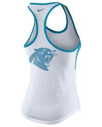 Nike | White Women's Carolina Panthers Dri Performance Tank | Lyst