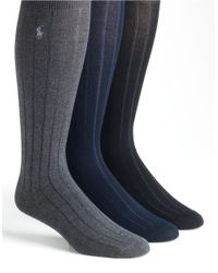 Polo Ralph Lauren | Multicolor 3-pack Mercerized Cotton Socks Set for Men | Lyst