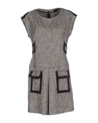 Love Moschino - Gray Short Dress - Lyst