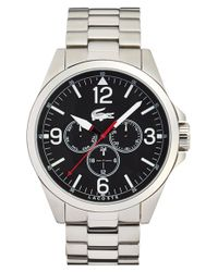 Lacoste - Metallic 'montreal' Round Bracelet Watch for Men - Lyst