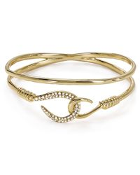 Alexis Bittar - Metallic Pavé Orbiting Hook Bangle - Lyst