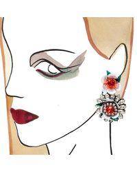 Shourouk - White Flower Earrings - Lyst