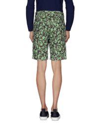 PT01 - Green Bermuda Shorts for Men - Lyst