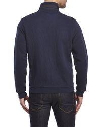 English Laundry - Blue Full-Zip Knit Jacket for Men - Lyst