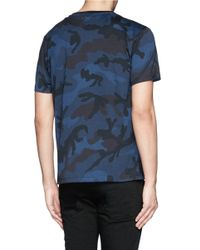 Valentino - Blue Camouflage T-shirt for Men - Lyst