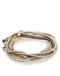 Carolina Bucci - White Gold Disco Ball Bracelet - Lyst