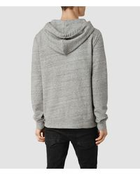 AllSaints | Gray Etra Hoody for Men | Lyst