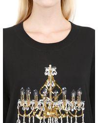 Markus Lupfer - Black Chandelier Sequins Cotton Sweater - Lyst