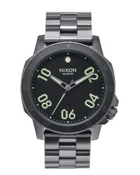 Nixon | Metallic 'the Ranger' Bracelet Watch for Men | Lyst