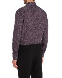 Paul Smith - Gray The Byard Rose Print Slim Fit Shirt for Men - Lyst
