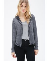 Forever 21 - Gray Heathered Knit Hoodie - Lyst