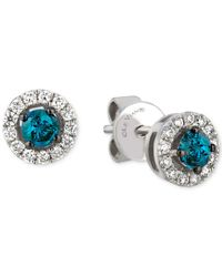 Le Vian | White And Blue Diamond Stud Earrings (1/2 Ct. T.w.) In 14k White Gold | Lyst