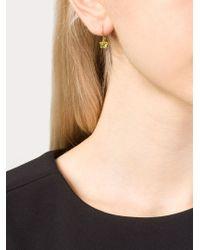 Marie-hélène De Taillac - Green 22kt Gold Peridot Mismatch Earrings - Lyst