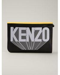 KENZO - Black 'Liberty' Clutch - Lyst