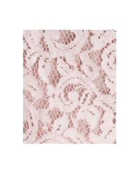 Adrianna Papell - Pink Flutter-Sleeve Lace Dress - Lyst