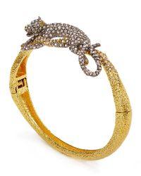 Alexis Bittar | Metallic Encrusted Crystal Panther Bracelet | Lyst