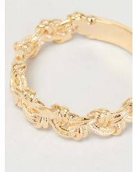 Helena Rohner | Metallic Loop Braid Goldplated Ring Gold Plated | Lyst