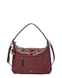 Fossil | Purple 'Vickery' Leather Shoulder Bag | Lyst