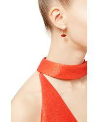 Delfina Delettrez | Metallic Glittered Lips Pearl Earring | Lyst