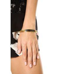 Marc By Marc Jacobs   Metallic Enamel Id Bracelet Black   Lyst