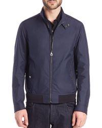 Ferragamo - Blue Lightweight Bomber Jacket for Men - Lyst
