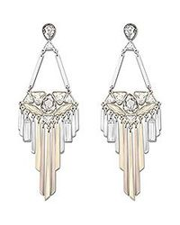 Swarovski | Metallic Airy Pierced Earrings | Lyst