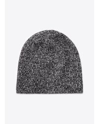Vince - Gray Cashmere Marled Knit Beanie for Men - Lyst