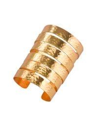 Natori | Metallic Hammered Gold Wire Cuff | Lyst
