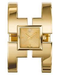 Tory Burch - Metallic 'sawyer' Square Bangle Watch - Lyst