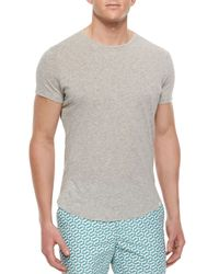 Orlebar Brown | Gray Tommy Crewneck Short-Sleeve Tee for Men | Lyst