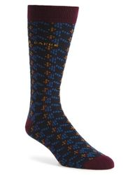 Ted Baker | Blue Houndstooth Socks for Men | Lyst